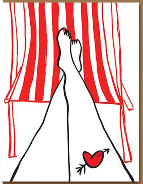 funky quirky unusual modern cool card cards greetings greeting original classic wacky contemporary art illustration photographic distinctive vintage retro humourous funny 1973 nineteen seventy three valentine valentine's-day letterpress love leg tattoo