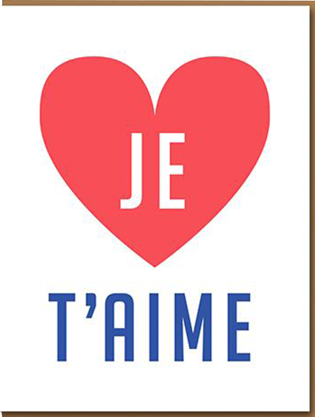 funky quirky unusual modern cool card cards greetings greeting original classic wacky contemporary art illustration photographic distinctive vintage retro humourous funny 1973 nineteen seventy three valentine valentine's-day letterpress love je t'aime
