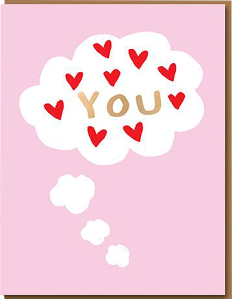 funky quirky unusual modern cool card cards greetings greeting original classic wacky contemporary art illustration photographic distinctive vintage retro humourous funny 1973 nineteen seventy three valentine valentine's-day letterpress love you thought bubble