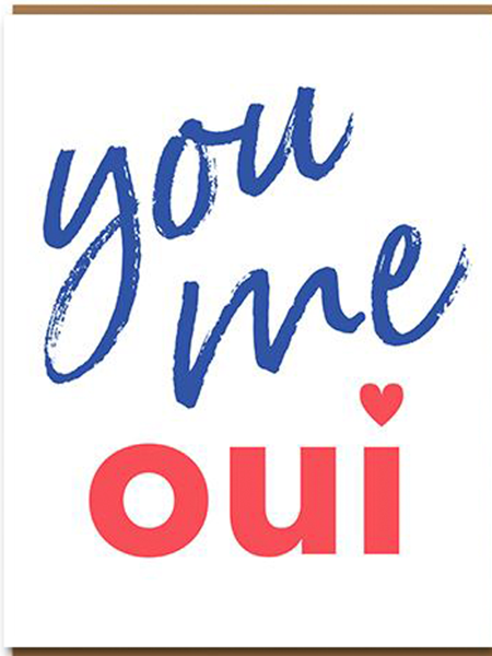 funky quirky unusual modern cool card cards greetings greeting original classic wacky contemporary art illustration photographic distinctive vintage retro humourous funny 1973 nineteen seventy three valentine valentine's-day letterpress love you me oui