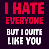 funky quirky unusual modern cool card cards greetings greeting original classic wacky contemporary art illustration photographic distinctive vintage retro humourous funny rude dean-morris valentine valentine's-day hate everyone quite like you