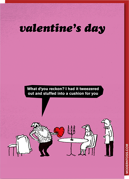 funky quirky unusual modern cool card cards greetings greeting original classic wacky contemporary art illustration photographic distinctive vintage retro humourous funny rude modern-toss valentine valentine's-day