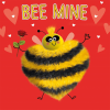 funky quirky unusual modern cool card cards greetings greeting original classic wacky contemporary art illustration photographic distinctive vintage retro humourous funny Tracks fluff google eyes valentine valentine's-day bee mine