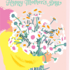 funky quirky unusual modern cool card cards greetings greeting original classic wacky contemporary art illustration photographic distinctive vintage retro mother's day mum mother mummy noi flowers