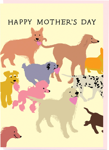 funky quirky unusual modern cool card cards greetings greeting original classic wacky contemporary art illustration photographic distinctive vintage retro mother's day mum mother mummy noi flowers dogs hearts