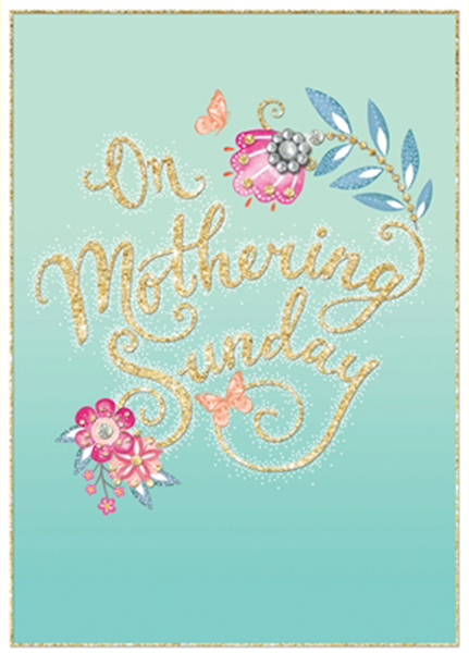 funky quirky unusual modern cool card cards greetings greeting original classic wacky contemporary art illustration photographic distinctive vintage retro humourous funny mother's day mum mother mummy card Rachel Ellen Mothering Sunday jewels flowers blossom