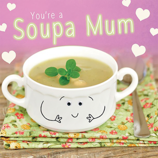 funky quirky unusual modern cool card cards greetings greeting original classic wacky contemporary art illustration photographic distinctive vintage retro humourous funny mother's day mum mother mummy card googly eyes googles tracks soupa