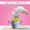 funky quirky unusual modern cool card cards greetings greeting original classic wacky contemporary art illustration photographic distinctive vintage retro humourous funny mother's day mum mother mummy card googly eyes googles tracks orchid fluff