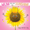 funky quirky unusual modern cool card cards greetings greeting original classic wacky contemporary art illustration photographic distinctive vintage retro humourous funny mother's day mum mother mummy card googly eyes googles tracks fluff sunshine sunflower