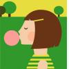 funky quirky unusual modern cool card cards greetings greeting original classic wacky contemporary art illustration photographic distinctive vintage retro Scandinavian graphic midcentury Dicky Bird bubblegum girl