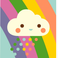 funky quirky unusual modern cool card cards greetings greeting original classic wacky contemporary art illustration photographic distinctive vintage retro Scandinavian graphic midcentury Dicky Bird cloud rainbow