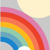 funky quirky unusual modern cool card cards greetings greeting original classic wacky contemporary art illustration photographic distinctive vintage retro Scandinavian graphic midcentury Dicky Bird rainbow