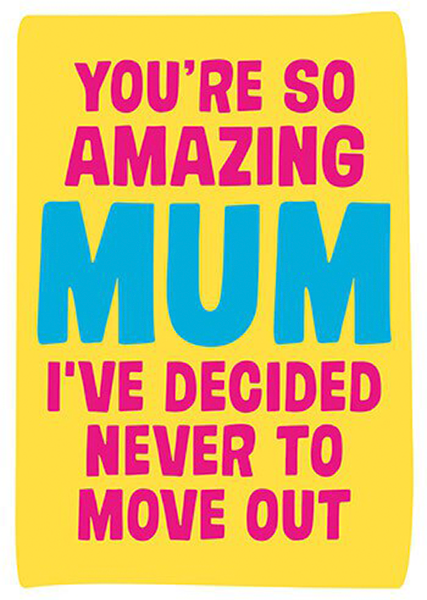 funky quirky unusual modern cool card cards greetings greeting original classic wacky contemporary art illustration photographic distinctive vintage retro humourous funny mother's day mum mother mummy card Dean Morris amazing