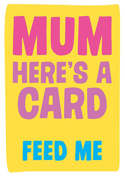 funky quirky unusual modern cool card cards greetings greeting original classic wacky contemporary art illustration photographic distinctive vintage retro humourous funny mother's day mum mother mummy card Dean Morris