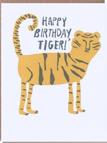 funky quirky unusual modern cool card cards greetings greeting original classic wacky contemporary art illustration photographic distinctive vintage retro eggpress 1973 nineteen seventy three letterpress birthday tiger