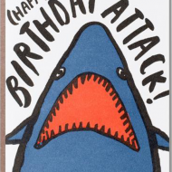 funky quirky unusual modern cool card cards greetings greeting original classic wacky contemporary art illustration photographic distinctive vintage retro eggpress 1973 nineteen seventy three letterpress birthday shark attack