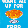 funky quirky unusual modern cool card cards greetings greeting original classic wacky contemporary art illustration photographic distinctive vintage retro Magda archer artpress fuzzy duck wake me up for food ma2624