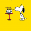 funky quirky unusual modern cool card cards greetings greeting original classic wacky contemporary art illustration photographic vintage retro kids tv Schulz peanuts Charlie Brown snoopy comic book cartoon hype birthday cake
