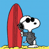 funky quirky unusual modern cool card cards greetings greeting original classic wacky contemporary art illustration photographic vintage retro kids tv Schulz peanuts Charlie Brown snoopy comic book cartoon hype birthday surfboard