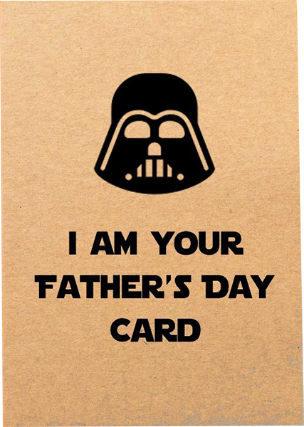 funky quirky unusual modern cool card cards greetings greeting original classic wacky contemporary art illustration photographic distinctive vintage retro humourous funny Bettie-Confetti Darth Vader fathers day dad daddy