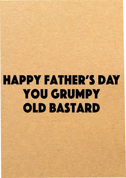 funky quirky unusual modern cool card cards greetings greeting original classic wacky contemporary art illustration photographic distinctive vintage retro humourous funny Bettie-Confetti fathers day dad daddy grumpy old bastard