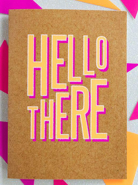 Birthday funky quirky unusual modern cool card cards greetings greeting original classic wacky contemporary art illustration fun funny vintage retro Bettie-Confetti neon colourful slogan hello there