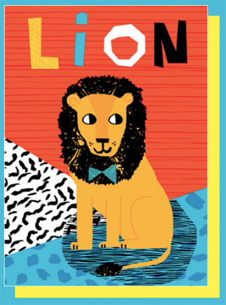 funky quirky unusual modern cool card cards greetings greeting original classic wacky contemporary art illustration photographic east end prints birthday lion wacka design