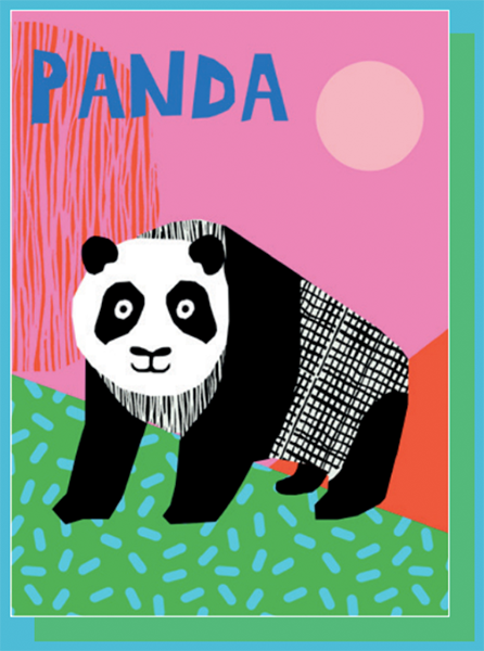 funky quirky unusual modern cool card cards greetings greeting original classic wacky contemporary art illustration photographic east end prints birthday panda wacka design kids