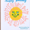 funky quirky unusual modern cool card cards greetings greeting original classic wacky contemporary art illustration photographic distinctive vintage retro eggpress 1973 nineteen seventy three letterpress birthday malarkey ep0254 here's to another trip around the sun