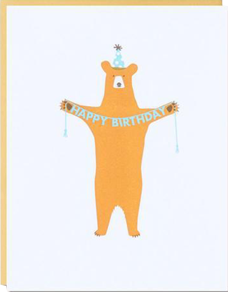 funky quirky unusual modern cool card cards greetings greeting original classic wacky contemporary art illustration photographic distinctive vintage retro eggpress 1973 nineteen seventy three letterpress birthday malarkey ep1330 bear animals