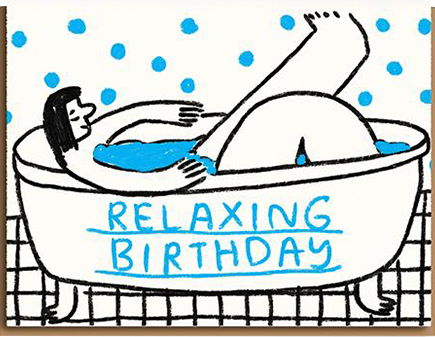 funky quirky unusual modern cool card cards greetings greeting original classic wacky contemporary art illustration photographic distinctive vintage retro eggpress 1973 nineteen seventy three letterpress birthday people I've loved pil1018 bath relaxing birthday