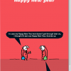 funky quirky unusual modern cool card cards greetings greeting original classic wacky contemporary art illustration photographic distinctive vintage retro Christmas xmas modern-toss funny rude humorous malarkey xmt67 happy new year text emoji thumbs up champagne bottle party popper