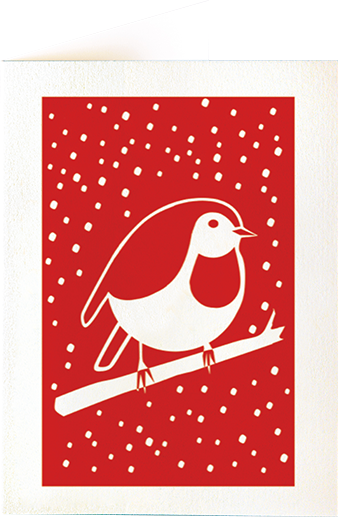 funky quirky unusual modern cool card cards greetings greeting original classic wacky contemporary art illustration photographic distinctive vintage retro fun letterpress Christmas xmas archivist gallery malarkey fat robin XP60