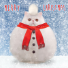 funky quirky unusual modern cool card cards greetings greeting original classic wacky contemporary art illustration photographic distinctive vintage retro Christmas xmas Tracks Humorous funny cute malarkey snowball cat xs370 fluff