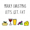 Malarkey Cards sell funky quirky unusual modern cool original classic wacky contemporary art illustration photographic distinctive vintage retro greetings cards Christmas xmas Cath Tate Katie Kirby Hurrah for Gin XHGF1564 lets get fat LGF