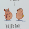 Malarkey Cards Brighton sell funky quirky unusual modern cool original classic wacky contemporary art illustration photographic distinctive vintage retro funny rude humorous birthday greetings cards a colourful mind will mcphail paperlink pulled pork get your coat pigs ECF042