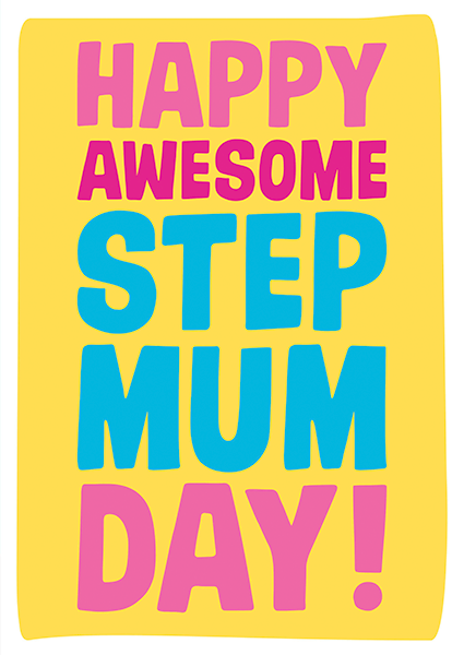 Malarkey Cards Brighton sell funky quirky unusual modern cool card cards greetings greeting original classic wacky contemporary art illustration photographic distinctive vintage retro humourous funny mother's day mum mother mummy card Dean Morris happy awesome step mum day mum40