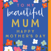 Malarkey Cards Brighton sell funky quirky unusual modern cool card cards greetings greeting original classic wacky contemporary art illustration photographic distinctive vintage retro humourous funny mother's day mum mother mummy card Think of me designs beautiful mum happy Mother's Day mdy04 flowers