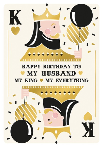 Malarkey Cards Brighton sell funky quirky unusual modern cool card cards greetings greeting original classic wacky contemporary art photographic birthday fun vintage foil embossed my husband my king art file