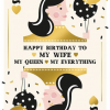Malarkey Cards Brighton sell funky quirky unusual modern cool card cards greetings greeting original classic wacky contemporary art photographic birthday fun vintage my wife my queen my everything foil embossed art file