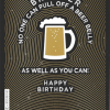 Malarkey Cards Brighton sell funky quirky unusual modern cool card cards greetings greeting original classic wacky contemporary art photographic birthday fun vintage foil embossed no-one can pull off a beer belly as well as you can brother
