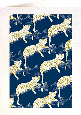 Malarkey Cards Brighton sell funky quirky unusual modern cool card cards greetings greeting original classic wacky contemporary art photographic birthday fun vintage letterpress archivist QP509 leopard