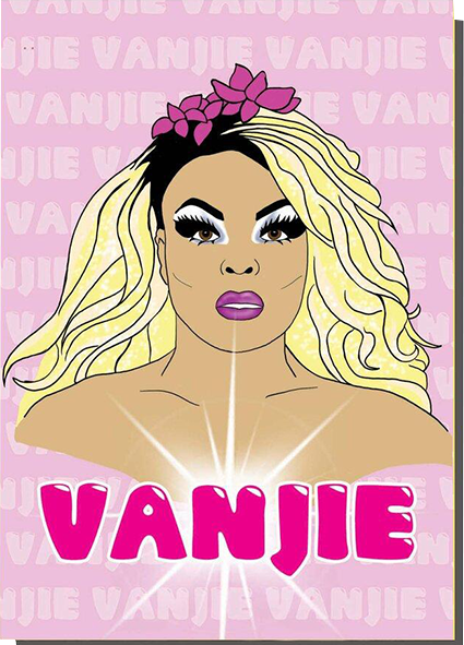 Malarkey Cards Brighton sell funky quirky unusual modern cool card cards greetings greeting original classic wacky contemporary art photographic birthday fun vintage bite your granny toy pincher miss vanjie drag race ru paul drag queen tv