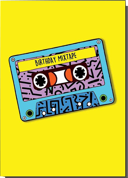 Malarkey Cards Brighton sell funky quirky unusual modern cool card cards greetings greeting original classic wacky contemporary art photographic birthday fun vintage bite your granny toy pincher birthday mix tape cassette