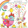 Malarkey Cards Brighton sell funky quirky unusual modern cool card cards greetings greeting original classic wacky contemporary art photographic fun vintage retro Easter rachel ellen gold flitter chick chicken bunny
