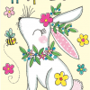 Malarkey Cards Brighton sell funky quirky unusual modern cool card cards greetings greeting original classic wacky contemporary art photographic fun vintage retro Easter rachel ellen gold flitter 5 pack cards bunny