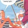 Malarkey Cards Brighton sell funky quirky unusual modern cool original classic wacky contemporary art illustration photographic distinctive vintage retro funny rude humorous birthday kiss me kwik KMK367 im not gay but twenty quid