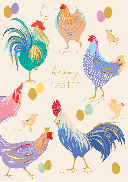 Malarkey Cards Brighton sell funky quirky unusual modern cool card cards greetings greeting original classic wacky contemporary art photographic fun vintage retro Easter chickens