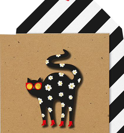 Malarkey Cards Brighton sell funky quirky unusual modern cool card cards greetings greeting original classic wacky contemporary art photographic birthday fun vintage tache 3D modern missy MM09 daisy dog
