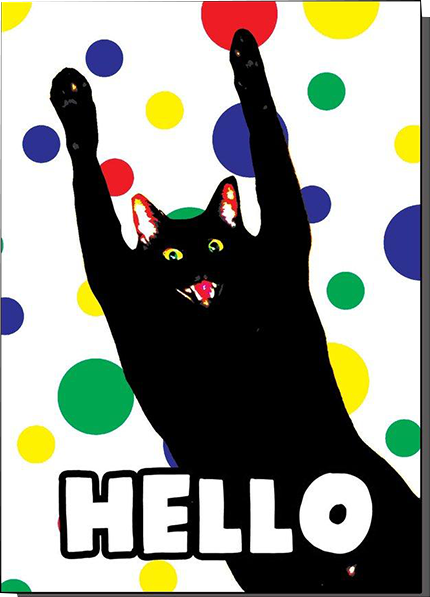 Malarkey Cards Brighton sell funky quirky unusual modern cool card cards greetings greeting original classic wacky contemporary art photographic birthday fun vintage bite your granny toy pincher hello cat